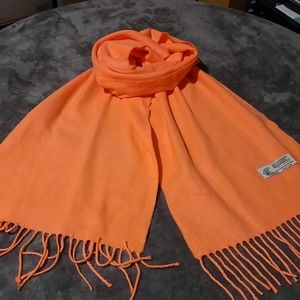 Italy Design Coral Cashmere Blend Scarf